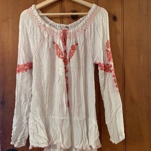 Embroidered Free People Dress/Shirt/Tunic